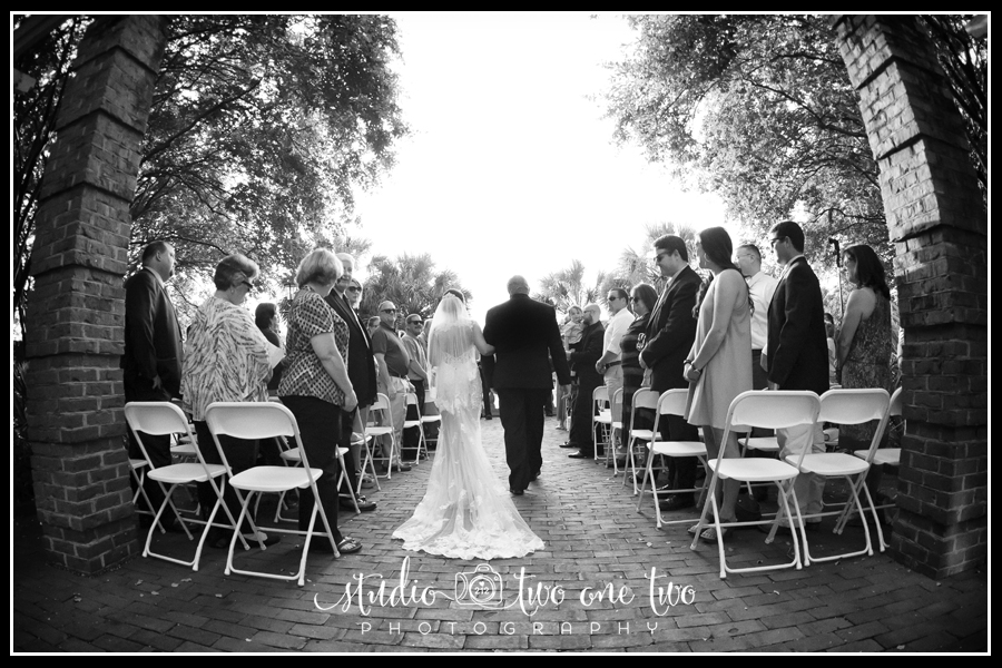 Bride and Dad's entrance to wedding