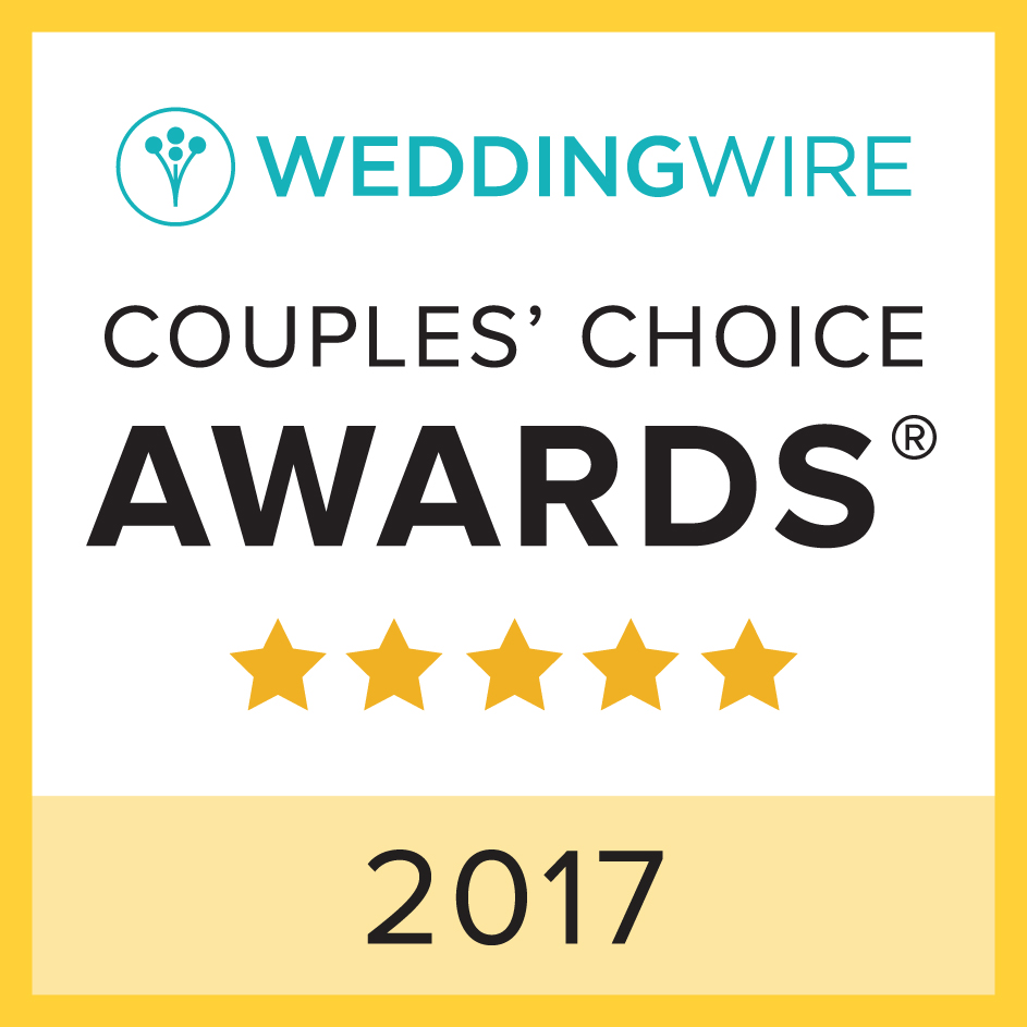 WeddingWire Couples' Choice Award for 2017 Wedding Photography in SC