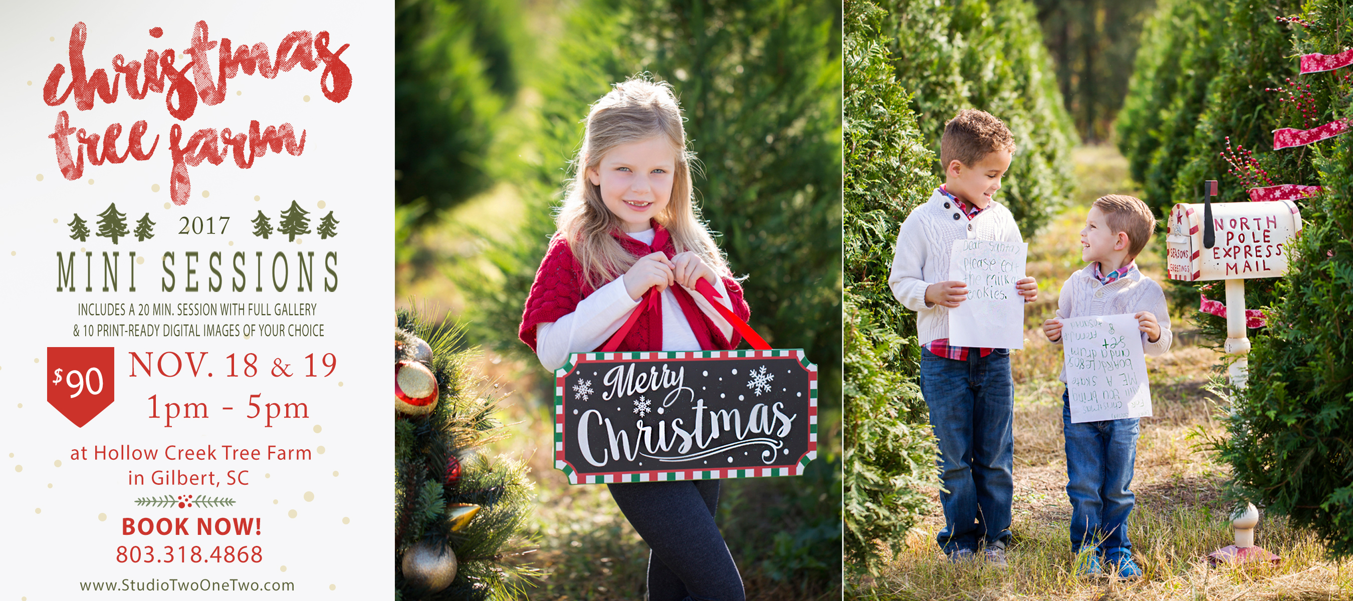Christmas Tree Farm Mini Sessions.Christmas Family Portraits Hollow Creek Tree Farm Gilbert